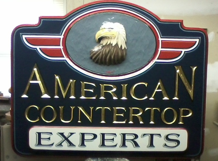 carved sign american countertop experts