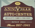 carved sign annville auto center