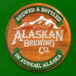 carved sign alaskan brewing company