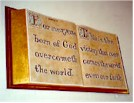 carved sign bible