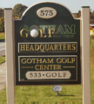 carved sign gotham golf